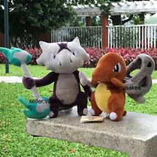 2Pcs Alola Marowak & Mask Cubone Plush Toys Game Stuffed Toy Cartoon Soft Doll