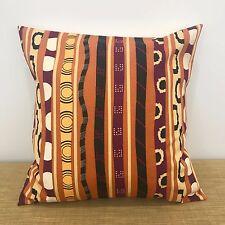 "Striped ABORIGINAL fabric cushion cover pillow case. Made Australia. 18"" (45cm)"