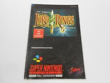 Lord of the Rings Vol. 1 Spielanleitung Super Nintendo SNES PAL Manual Booklet