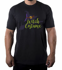 Witch Costume Text shirt, Men's Graphic Tees, Funny Halloween Men's Shirts!