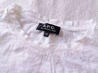 APC A.P.C. slope blocks white small tshirt xs unisex