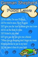Dog Food Law - It's Mine!' Dog Breed Laminated Sign (A-J) Novelty Gift/Present
