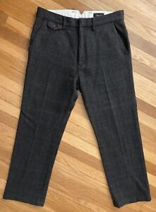 CHIMALA Made in Japan Wool HERRINGBONE OFFICER CHINO PANT 30x29
