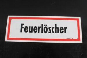Notice Sign Shield Fire Brigade Fire Extinguisher Marking 42,3cm x 14,8cm