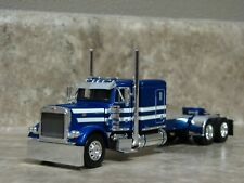 DCP 1/64 Blue White Flattop Peterbilt Semi Truck Farm Toy