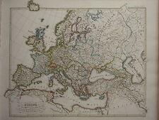1846 SPRUNER ANTIQUE HISTORICAL MAP ~ EUROPE 16th CENTURY REFORMATION HABSBURG