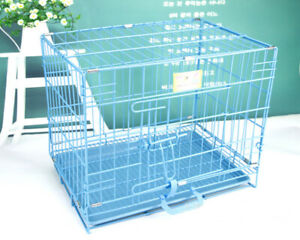 Dog Crate Kennel Folding indoor Metal Portable Color Cage Pet Cat House Animal