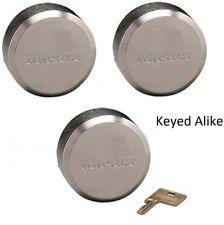 Master Lock 6271KA Hidden Shackle (lot of 3) KEYED ALIKE Reinforced Puck Locks