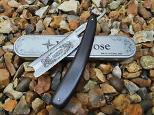 Straight razor by Windrose 7/8th Barbers notch Ebony handle Shave ready!Made in