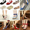 Womens Chinese Embroidered Flower Flat Shoes Casual Comfy Mary Jane Ballet Pump