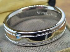 Band ring 6 Mm Wide Size 10 #1 New platinum Scott Kay Gents Comfort Fit Wedding