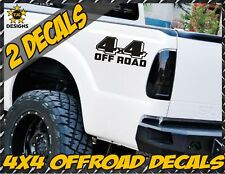 4x4 Off Road Truck Bed Decals MATTE BLACK Ford F-150 Chevy Toyota GMC Dodge Ram