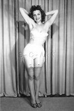 1940s-60s (4 x 6) Repro Risque Pinup RP- Strapless Bra- Panties- Stockings