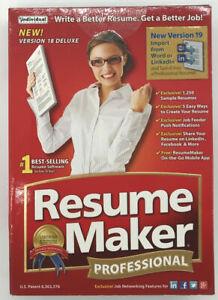 BRAND NEW Individual Resume Maker Professional Full Version Windows Software CD