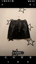 New look black leather skirt size 10
