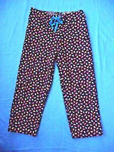 Vera Bradley NEW L PJs Lounge Pants Kensington Cotton Corduroy Paisley Retired