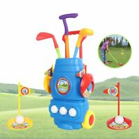 Kids Golf Set Practice Plastic Mini Putter Club Ball Putting Cup Hole Play Game