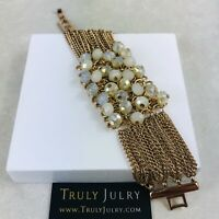 UK Ladies Womens Designer Gold Beaded Chain Bracelet Jewellery