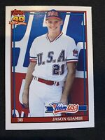 JASON GIAMBI 1991 Topps Traded Rookie #45T Oakland Athletics Yankees RC