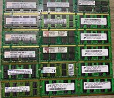 Lot Of 18 - 2GB PC2-6400S DDR2-800MHz 200pin  Sodimm Laptop RAM - Mixed Brand
