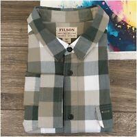 Filson Kitsap Men's Shirt Long Sleeve Button Front Cotton Plaid Size 3XL