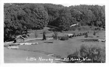 RPPC MT HOREB WI Little Norway Wisconsin Vintage Real Photo Postcard ca 1950s