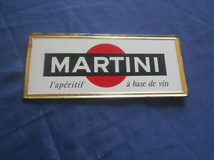 ancienne publicité martini en tole , métal et carton