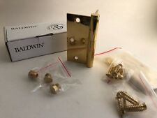 Pair of Solid Extruded Brass Baldwin Mortise Door Hinges NEW OLD STOCK