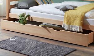 Bettschublade NORA Bettkasten Unterbettkasten buche