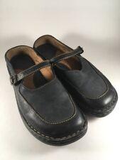 Born Black Leather Mary Jane Shoes Women's Size 7 Slip-On Mules