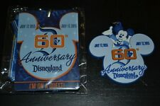 Disneyland 60th Anniversary Disney Lanyard & Clip ~ Diamond Celebration