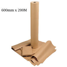 600mm x 200M Heavy Duty Imitation Kraft Brown Parcel Wrapping Paper Roll 88GSM