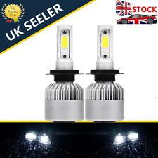 UK H7 Xenon Super Power White Cob Headlight Dipped Main Beam 12v Led Bulbs