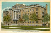 Postcard The Christian Church Hospital, Kansas City, MO