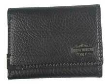 Harley-Davidson Men's Gunmetal Bar & Shield Leather Tri-Fold Wallet GM6549L-BLK