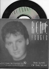 RENE FROGER - The love of the year CD SINGLE 3TR DUTCH CARDSLEEVE 1990