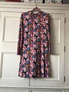 M&S Floral Dress 10 Long