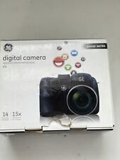 GE X5 14.1MP Digital Camera Black Works With CD And Manuals
