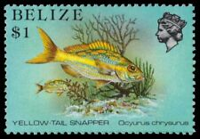 "BELIZE 711 (SG778) - Marine Life ""Yellow-tail Snapper"" (pa55003)"