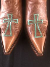 Old Gringo Cowgirl Cross Boots Brown Size 7.5B