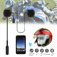 Casque Moto Casque Haut Parleur Micro Bluetooth 4.2 HD Mains-Libres Musique