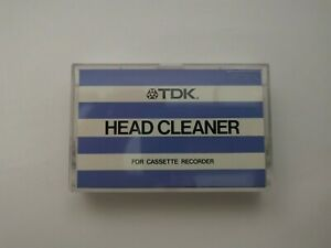 TDK Head Cleaner Blue Striped Cover Cassette Tape Made In Japan HC1