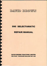 David Brown 990 Selectamatic Tractor Repair Manual