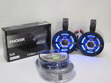 POLK Silver Mini LED W/Amp & kit Bluetooth R Cage Speakers UTV RZR Can Am Jeep