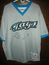VINTAGE SIGNED TORONTO BLUE JAYS JERSEY BY PAT HENTGEN CY YOUNG WINNER & OTHERS