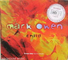 TAKE THAT CD MARK OWEN Child UK PROMO (Disc+PS) +REL DATE STKR MINT / UNPLAYED