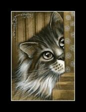 Sepia Cat ACEO Print The Watcher by I Garmashova