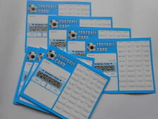 FOOTBALL SCRATCH CARDS - 40 SPACES x 100 +1  CARD - RAISE £2,020- BLUE/WHITE
