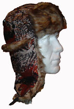 AUTUMN TREE NEW CAMO TRAPPER HAT FAUX FUR WARM LINED THERMAL JUNGLE FOREST STYLE