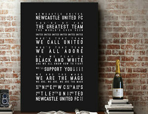 We Are The Mags, Newcastle United FC Inspired Lyrics PRINT | CANVAS GIFT